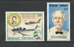 GABON  Scott C264, C269 Yvert PA262, PA266 ** (2) Cote 10,00  $ 1984 - Gabon (1960-...)