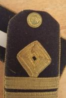 Very Old Apaulet Strap Apaulette Apolete Seaman Naval Captain Kapetan Jadranska Plovidba Susak Fiiume Rijeka - Other Collections