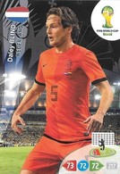 CARTE PANINI ADRENALYN COUPE DU MONDE FIFA BRESIL 2014 PAYS BAS DARLEY BLIND - Trading Cards