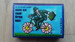 Zündholzschachtel Mit Darstellung Eines Fahrradfahrers (Umweltinitiative) - Zündholzschachteln
