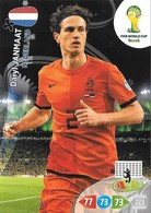 CARTE PANINI ADRENALYN COUPE DU MONDE FIFA BRESIL 2014 PAYS BAS DARYL JANMAAT - Trading Cards