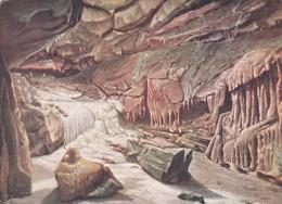 CHEDDAR -GOUGHS CAVES. THE FROZEN RIVER . HERBERT TRUMAN - Cheddar
