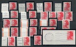 Lot  De Variétés Sur Timbre Liberté De Delacroix Yvert 2319 & 2322 - Lot 126 - Curiosidades: 1980-89 Usados