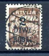 1920-21 LETTONIA N.64 USATO - Lettonia