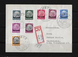 DEUTSCHES REICH → Besetzung Lothringen R-Brief 1940 - Besetzungen 1938-45