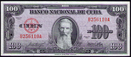 CUBA 100 PESOS 1954 AUNC-SC- - Cuba