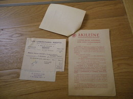 Prospectus & Facture 1948 Laboratoires ASEPTA 4 Rue Du Rocher MONACO Akiléïne Soin Podologique Pédicure - Droguerie & Parfumerie