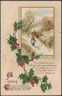 Embossed - A Merry Christmas, C.1910 - PS Postcard - Christmas