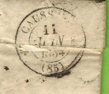 1834 LAC De Toulouse  Cachet Id Encre Rouge => St Hugues Près Puylaroque Par Caussade (Tarn Et Garonne) Cachet Caussade - 1849-1876: Klassieke Periode