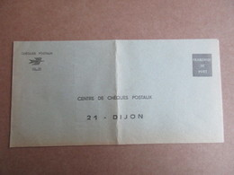 Enveloppe Vierge Avec Entête - Chèques Postaux - La Poste - Vieux Papiers