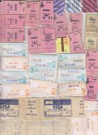 Lot De Tickets (33) Cinema.Train.Blois. Orléans. Tours. Vendôme.Bus. Martroi.Royal. Pathé.??? Tickets Caisse Auchan. - Titres De Transport