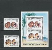 GABON  Scott 621-622, 622a Yvert 621-622, BF52 ** (2+bloc) Cote 8,25  $ 1987 - Gabon (1960-...)