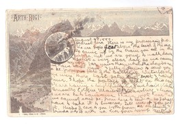 ARTH RIGI KULM USED 1889 SWITZERLAND INDIA SEA POST OFFICE POSTMARK BOMBAY & MURRE POSTAL HISTORY BANKING INTEREST - LU Lucerne