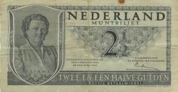 BILLET NEDERLAND MUNTBILJET 2 1/2 ANNEE 1949 - [2] 1815-… : Kingdom Of The Netherlands