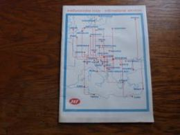 Timetable JAT Airlines Winter-zima 1971/2 Jugoslovenski Aerotransport - Aviation Commerciale
