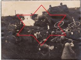 Photo 1915 METZ-MAGNY ?? - Un Accident De Train, Soldats Allemands (A201, Ww1, Wk 1) - France