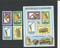 GABON  Scott 638-641, 641a Yvert 636-639, BF55 ** (4+bloc) Cote 14,50 $ 1988 - Gabon (1960-...)