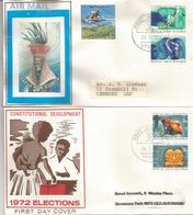 Encouragement Aller Voter. Encouragement To Vote.  Deux  FDC's 1972, Série Complète - Papouasie-Nouvelle-Guinée