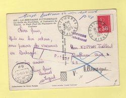 Dizy Le Gros - Aisne - Destination Allemagne - Inconnu Retour - Marianne De Bequet - 1973 - Marcophilie (Lettres)