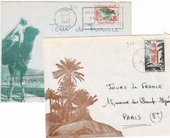 TP N° 336 Et 371 Sur 2 Enveloppes, De Laghouat Et Média - Algerije (1962-...)