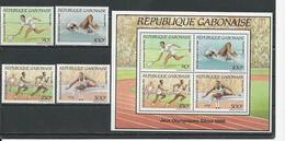 GABON  Scott 648-651, 651a Yvert 650-653, BF56 ** (4+bloc) Cote 24,50 $ 1988 - Gabon (1960-...)