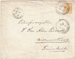 CTN54A- FINLANDE EP ENVELOPPE AU DEPART DE HELSINGFORS 8/10/1890 - Finlandia