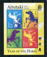 """Aitutaki - Block Nr. 97 - """"Jahr Des Pferdes"""" ** / MNH (aus Dem Jahr 2014) - Aitutaki"""