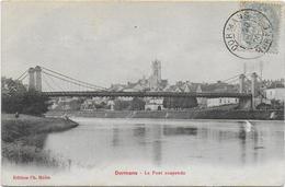 CPA - DORMANS - LE PONT SUSPENDU - 1905 - Dormans