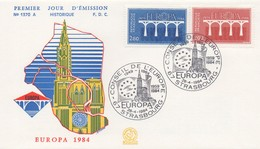 EU189  FDC 1984 EUROPA  France (cachet Main Conseil De L'Europe)  TTB - 1984