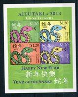 """Aitutaki - Block Nr. 93 - """"Jahr Der Schlange"""" ** / MNH (aus Dem Jahr 2013) - Aitutaki"""