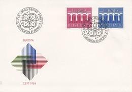 EU190  FDC 1984 EUROPA  Suisse  TTB - 1984