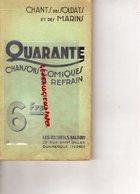 59- DUNKERQUE- RARE CHANSONS COMIQUES A REFRAIN-SOLDATS ET MARINS- MARINE GUERRE- RECUEILS BALARDY-1933 - Picardie - Nord-Pas-de-Calais