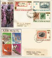 Deutsch-Neu-Guinea Stamps 1897-1914, Série Sur Deux FDC's Année 1973 - Papua New Guinea