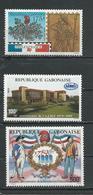 GABON  Scott 668, 669, 664 Yvert 664, 666, 665 ** (3) Cote 10 $ 1989 - Gabon (1960-...)