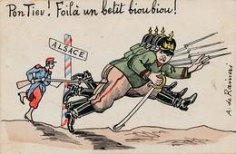 CPA - Thèmes - Militaria - Guerre 1914 - Pon Tiev Foilà Un Betit Bioubiou - Guerre 1914-18