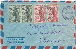 LETTRE PAR AVION AVEC 4 TIMBRES - Lettres & Documents
