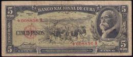 CUBA 5 PESOS 1958 G-BC REMPLAZO - Cuba
