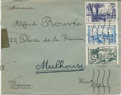 LETTRE POUR LA FRANCE AVEC 3 TIMBRES - Marokko (1891-1956)