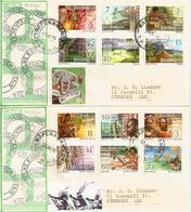Nouvelle Série Definitive 1973 (Peche Au Requin,chasse Aux Crocodiles,danse Du Feu,etc) Deux FDC's Forte Côte - Papouasie-Nouvelle-Guinée
