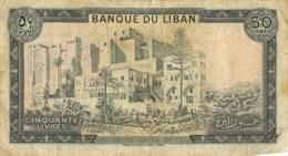 BILLET LIBAN  CINQUANTE  LIVRES - Liban