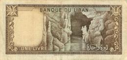 BILLET BANQUE DU LIBAN 1 LIVRE - Liban
