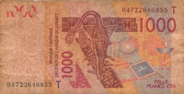 LOT DE 2  BILLETS NIGER MILLE FRANCS CFA ANNEE 2003 - Niger