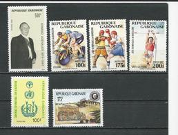 GABON  Scott 738, 742-744, 758, 763 Yvert 727, 733-735, 748, 756 ** (6) Cote 14,00 $ 1992-3 - Gabon (1960-...)