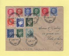 Type Petain - Utilisation Apres Demonetisation - Chalons Sur Saone - Recommande - 4-11-1944 - Marcophilie (Lettres)