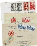 TP Entre Les N° 251 Et 265A Sur 3 Devants D'enveloppes Pour La France Dont 1 En Recommandé Et Taxé - Morocco (1891-1956)