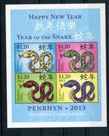 """Penrhyn - Block Nr. 105 - """"Jahr Der Schlange"""" ** / MNH (aus Dem Jahr 2013) - Penrhyn"""