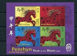 "Penrhyn - Block Nr. 109 - ""Jahr Des Pferdes"" ** / MNH (aus Dem Jahr 2014) - Penrhyn"