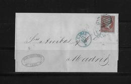 SPAIN / Spanien → Letter Cadiz To Madrid 1855 - Lettres & Documents