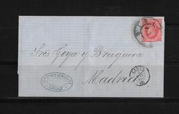 SPAIN / Spanien → Letter Cadiz To Madrid 1864 - Lettres & Documents