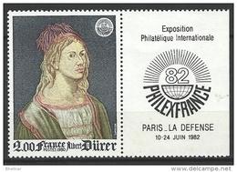 """FR YT 2090a Vignette """" Philexfrance, Dürer """" 1980 Neuf** - France"""